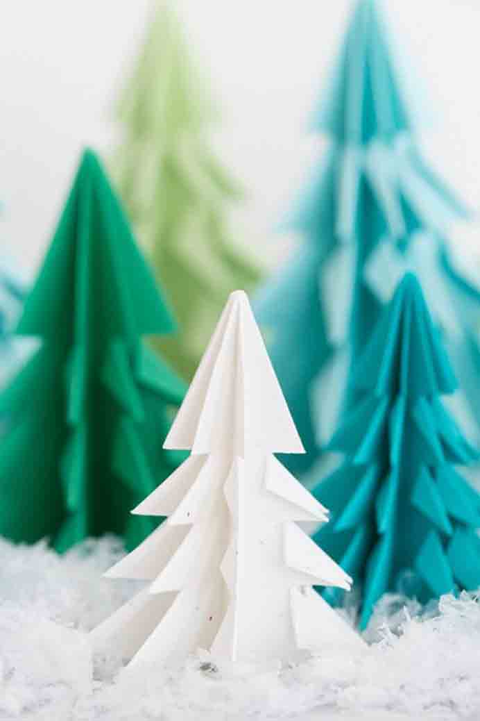 Making Christmas Trees from paper is a simple decorative idea for the festive season. Use them for decorations at your Christmas table or hang them in a garland. Please share. Sign up to our craft inspiration roundup newsletter and make Mondays more manageable. Fabulous Crafty ideas and projects delivered to your inbox - CraftyLikeGranny.com #christmascrafts #christmas #crafts #diy