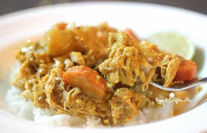 Thai Curry Repeat Crafter Me. Please share. The best in craft delivered to your inbox every Monday - CraftyLikeGranny.com #cooking #recipe #weekdaymeal