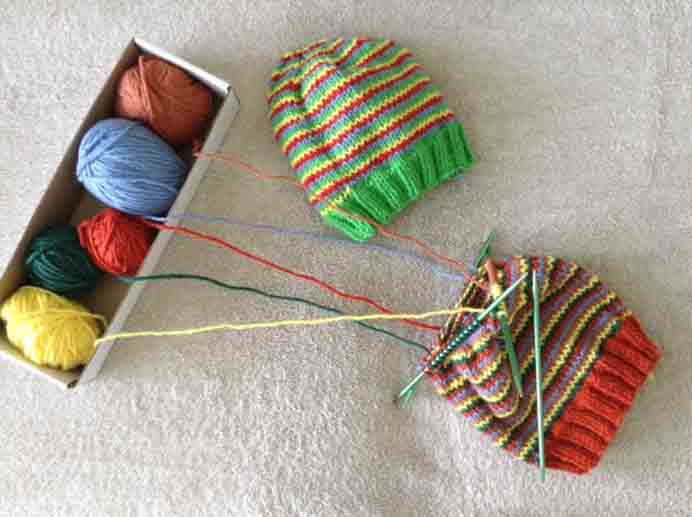 A fabulous way to use up left over yarn to create beautiful spiral shapes. Nicole at Knitting For Charity shares Ginny Jovanovich's guide to helix knitting. Please share. Sign up to our craft inspiration roundup newsletter and make Mondays more manageable. Fabulous Crafty ideas and projects delivered to your inbox - CraftyLikeGranny.com #knittinghats