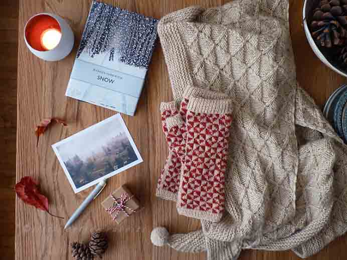 Gorgeous design for winter Mitts. Julie at Little Cotton Rabbits shares her finished Pinwheel Mitts project with simply stunning photography. Please share. Join now for creative craft inspiration. The best in craft delivered to your inbox every Monday - CraftyLikeGranny.com #knitting