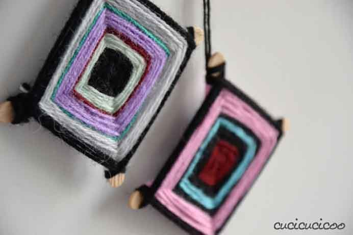 My children love to make these. They look so effective and make lovely handmade gifts for friends and family. Lisa at Cucicucicoo has a tutorial to follow. Great way to use up scraps of yarn. Please share. Make Mondays more manageable and sign up for our craft inspiration newsletter. Delivered to your inbox - CraftyLikeGranny.com #christmasornaments