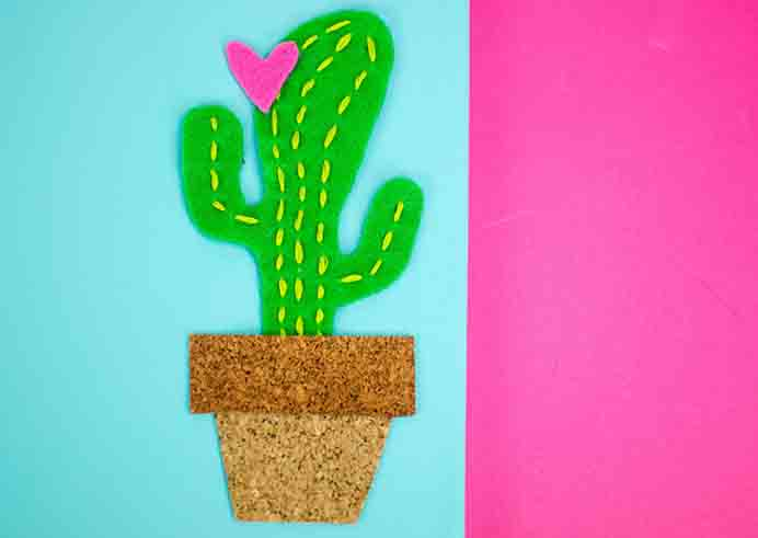 DIY Cactus Canvas. Such a fun craft project for some home decor or a teen bedroom. Check out Courtney's tutorial on A Little Craft In Your Day. Please share. You will always look forward to Mondays, with our craft inspiration roundups -CraftyLikeGranny.com #DIY #Decor #Craft