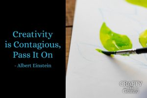 Has your creativity experienced renewed vigor, being a reader of Crafty Like Granny? :) Love this quote. Creativity is contagious. Pass it on - Albert Einstein. Start with something small and eventually you will be tackling bigger projects. We are passing on the creativity found in the inspiring crafty articles below. Enjoy :)Please share. Look forward to Mondays with our craft inspiration newsletter. Crafty goodness delivered to your inbox - CraftyLikeGranny.com #Craft