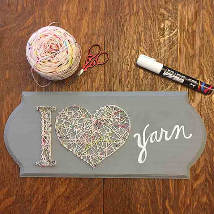 DIY Valentine Day String Art. An excellent way to use up scrap bits of yarn. The step by step instructions are laid out on Interweave's blog post.Please share. Join now for creative craft inspiration. The best in craft delivered to your inbox every Monday - CraftyLikeGranny.com #craft #stringart