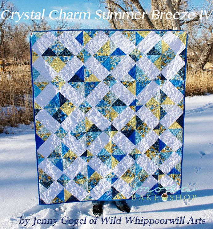 Crystal Charm Summer Breeze Quilt Design. A straightforward and simple quilt design using a 9 patch block. Gorgeous soft blues and yellows, reminding us of the gorgeousness of summer.Please share. Join now for creative craft inspiration. The best in craft delivered to your inbox every Monday - CraftyLikeGranny.com #quilting