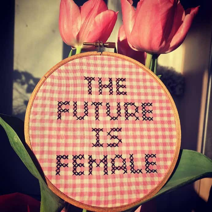 Interesting thoughts about crafting, politics and activism on Julie's Subversive Cross Stitch blog. The in your face cross stitch designs are definitely worth a look. Please share. Make Mondays more manageable and sign up for our craft inspiration newsletter. Delivered to your inbox - CraftyLikeGranny.com #Crossstitch