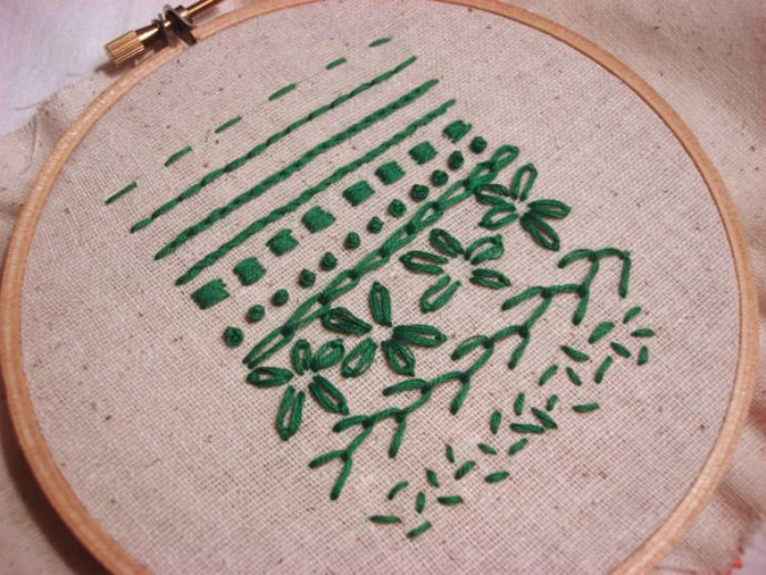 Craftsy Hand Embroidery Stitches. Easy to follow instructions on 10 Embroidery stitches. The large colored photographs make it so much easier to understand. Learn the basic stitches like running stitch, satin stitch and french knot, plus 7 others. Please share. Look forward to Mondays with our craft inspiration newsletter. Crafty goodness delivered to your inbox - CraftyLikeGranny.com #embroidery