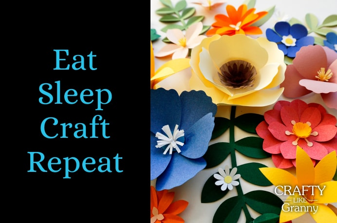 Eat Sleep Craft Repeat Yes! Most definitely! This is the way to live! Eating, Sleeping, doing some craft and then the next day, repeating it all again.For some of us this might be very much our daily life! Some of us have to just squeeze some craft in :) Take a look at the fabulous crafting ideas for this week. Please share and make Mondays fun, get our craft inspiration delivered to your inbox - CraftyLikeGranny.com #Knitting #Crochet #Embroidery #Sewing #Art
