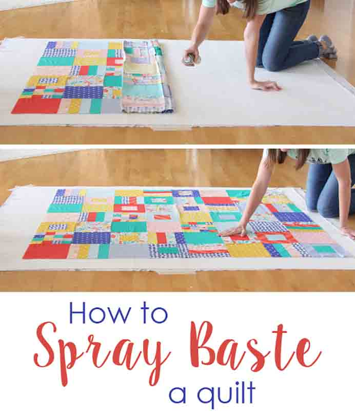How To Spray Baste A Quilt Tutorial. Spray basting quilts is such a neat trick and for those of you who dislike pinning, this technique is for you!. Allison from Cluck Cluck Sew has all the guidance you need in her tutorial. Please share. Make Mondays more manageable and sign up for our craft inspiration newsletter. Delivered to your inbox - CraftyLikeGranny.com #quilting #quiltingtips