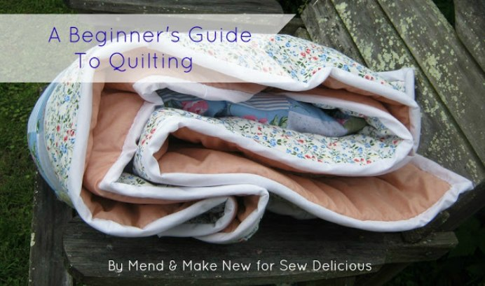 Mend and Make for Sew Delicious Quilting for Beginners. Jenny's instructions for how to start a quilt and what to consider is extremely helpful. The tutorial takes the guess work out of how to make a quilt, the common terms and the 4 stages to a finished quilt. Please share. Make Mondays more manageable and sign up for our craft inspiration newsletter. Delivered to your inbox - CraftyLikeGranny.com #quilting