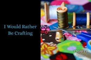 """Have you ever been doing a task and thinking """"I would rather be crafting""""? I am sure there are many times that this thought has come into your mind. Particularly when doing something unrelated to craft, that you are not particularly enjoying :) We share some excellent tutorials for fabulous crafting inspiration. Here, here to dreaming about craft! Please share and make Mondays fun, get our craft inspiration delivered to your inbox - CraftyLikeGranny.com #craft"""