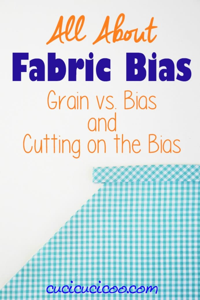 Fabric Bias vs Grain. An easy to understand sewing tutorial about fabric bias by the talented Lisa at Cucicucicoo. This guide, complete with helpful photos teaches you about bias. Why you would use bias and how to use a pattern to cut on the bias. Please share. You will always look forward to Mondays, with our craft inspiration roundups -CraftyLikeGranny.com #sewing #sewingtips