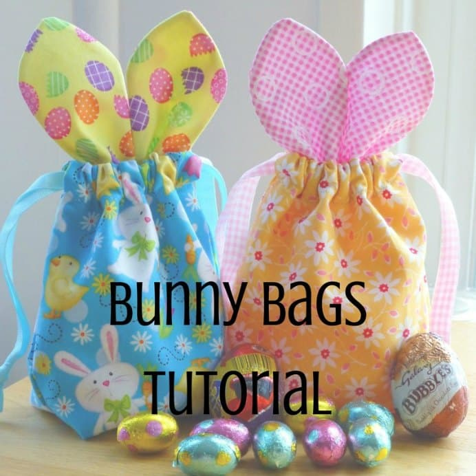 Just Jude Designs has created a pattern and tutorial for a super cute Easter Bunny Bags. The fabulous detailed photos of the step by step guide, make this project super easy. Perfect for giving gifts of chocolate goodness to special family and friends.Please share and make Mondays fun, get our craft inspiration delivered to your inbox - CraftyLikeGranny.com #sewing #sewingtips