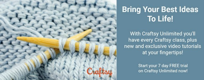 Try Craftsy Unlimited For Free With a 7 Day Trial #craft #DIY #onlinecourses
