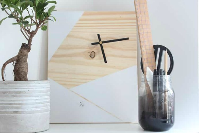 How To Make A DIY Geometric Wooden Clock. This is an excellent tutorial for a beginner woodwork project. Mike at The Crafty Gentleman shows you how to make a wooden clock. Please share. Join now for creative craft inspiration. The best in craft delivered to your inbox every Monday - CraftyLikeGranny.com #DIY #Woodwork #woodworkingprojects