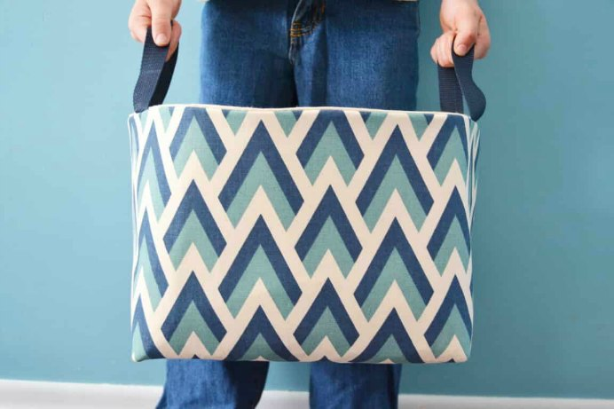 Fabric Basket Sewing Tutorial. Cat from Mary Martha Mama steps you through how to sew a storage basket made of fabric. It is a sewing project that would suit beginners. Please share. Make Mondays more manageable and sign up for our craft inspiration newsletter. Delivered to your inbox - CraftyLikeGranny.com #sewing #sewingpatterns #DIY