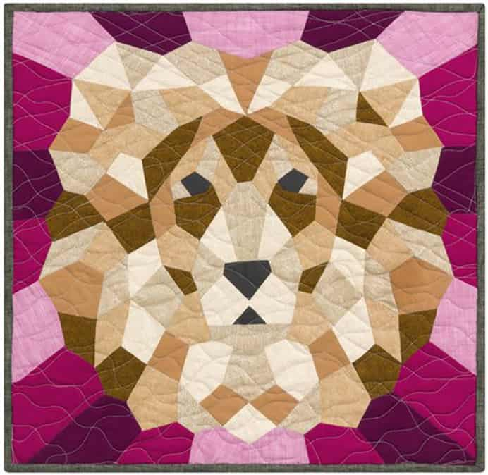 Animal Inspired Quilt Designs By Violet Craft. I came across these stunning quilt designs by Violet Craft using the English Paper Piecing technique. Based on Animals they would make unique wall hangings. Please share. Join now for creative craft inspiration. The best in craft delivered to your inbox every Monday - CraftyLikeGranny.com #quilting #quiltingpatterns #quiltingideas