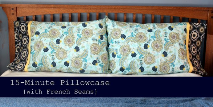 This tutorial is a great sewing beginners idea. I loved the Lindsay at Cottage Mama's idea about making a pair to gift to house guests after they stay with you. Take a look at this easy to follow sew a pillow case tutorial. Please share. You will always look forward to Mondays, with our craft inspiration roundups -CraftyLikeGranny.com #sewing #sewingforbeginners #sewingpatterns