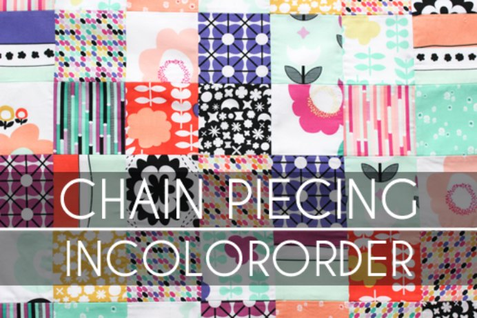 Jeni at In Colour Order shares a fast and simple quilting technique which is great for beginners. Chain Piecing saves time and thread and can make a gorgeous and colorful quilt. Please share and make Mondays fun, get our craft inspiration delivered to your inbox - CraftyLikeGranny.com #quilting #quiltingpatterns #quiltingtechniques