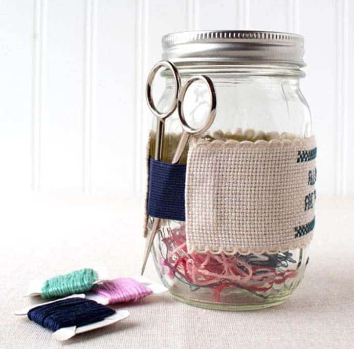 Make An Ort Jar and Scissor Caddy. I am always learning new things on my crafting journey. I wonder if you already knew what an ort is? You can find out more about orts and how to store them in this lovely tutorial by Stitched Modern. Please share. Look forward to Mondays with our craft inspiration newsletter. Crafty goodness delivered to your inbox - CraftyLikeGranny.com #embroidery #stitching #DIY #craft