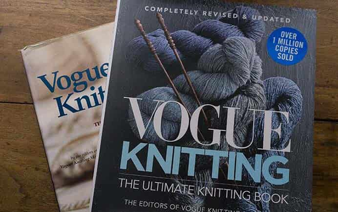 Book Review By Franklin: Vogue Knitting The Ultimate Knitting Book. Franklin Habit reviews the latest edition of Vogue Knitting and is super impressed with new version. Read about what's so great about this updated knitting resource. Please share. Make Mondays more manageable and sign up for our craft inspiration newsletter. Delivered to your inbox - CraftyLikeGranny.com #knitting #knittingstitches #knittingpattern #knittingguru
