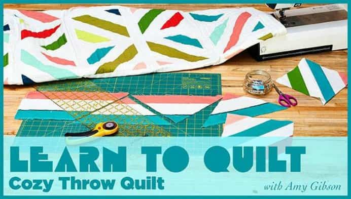 Learn all the steps to create your own visually dynamic cozy throw. Craftsy Quilting instructor Amy Gibson has a comprehensive online class with heaps of handy hints and easy to follow instructions. Please share. Make Mondays more manageable and sign up for our craft inspiration newsletter. Delivered to your inbox - CraftyLikeGranny.com #Quilting #quiltingpatterns #sewing