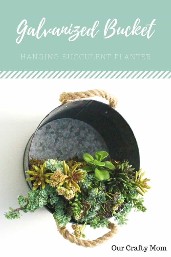 This planter idea for succulents is visually stunning! Michelle at Our Crafty Mum has a simple tutorial to make it. Wouldn't this make a gorgeous mother's day gift! Please share. The best in craft delivered to your inbox every Monday - CraftyLikeGranny.com #mothersdaygift #DIY #planter