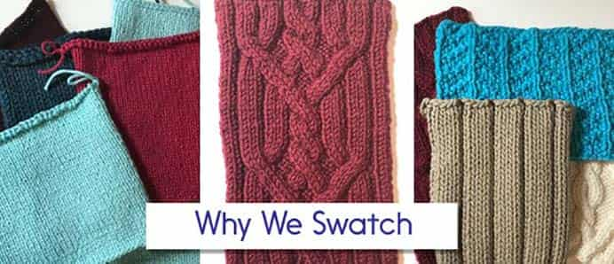Patty Lyons Talks About Why We Swatch. In a previous post I found an article by knitting expert Clara Parkes on swatching. Patty Lyons, another knitting expert, shares her thoughts on why we need to swatch. Please share and make Mondays fun, get our craft inspiration delivered to your inbox - CraftyLikeGranny.com #knitting #knittingstitches #knittingpattern #knittingguru