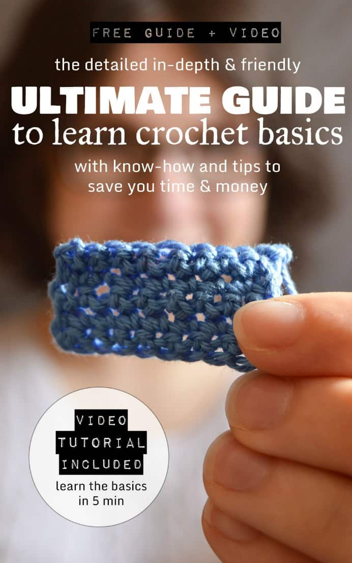 Anna at Crafting Fingers has a very in depth guide to learn the basics of crochet. The 5 minute video would make a great start and then with a cup of tea and crochet hook and yarn in hand, you could follow the tutorial :) Please share and make Mondays fun, get our craft inspiration delivered to your inbox - CraftyLikeGranny.com #crochet #crocheting #crochettips