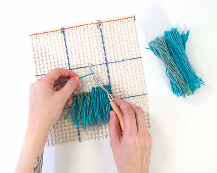 Latch Hook Basics Tutorial. Latch Hook is making a come back. Heidi from Handsoccupied's tutorial teaches you the basics. A wonderful way to use up your yarn ends. Please share. You will always look forward to Mondays, with our craft inspiration roundups -CraftyLikeGranny.com #latchhook #craft #yarn