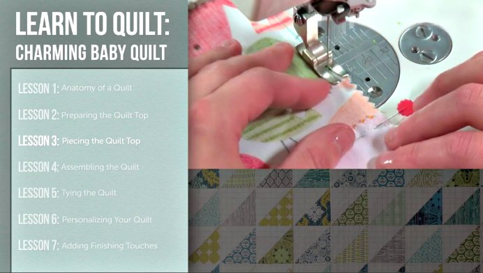 Craftsy Instructor Amy Gibson steps you through how to make a simple baby quilt. After 7 online lessons, which you can do at your own pace, you will have a quilt to be proud of. Get Amy's course and start your new quilt! Please share and make Mondays fun, get our craft inspiration delivered to your inbox - CraftyLikeGranny.com #quilting #quiltingblock #sewing