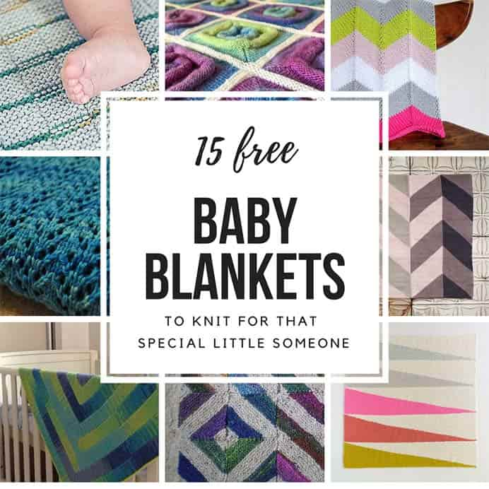 Becky from Knitting Om's Favorite Baby Blanket Knitting Patterns. There are some gorgeous knitted baby blankets curated by Becky. I love the Sqaures on a roll design. Take a look and see which one is your favorite. Please share. You will always look forward to Mondays, with our craft inspiration roundups -CraftyLikeGranny.com #knittingguru #knittingstitches #knitting