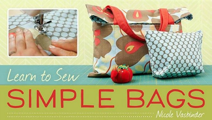 Go at your own pace with an Online Craftsy course. Learn to make a gorgeous tote bag and zippered clutch with instructor; Nicole Vasbinder. Learn More here. Please share and make Mondays fun, get our craft inspiration delivered to your inbox - CraftyLikeGranny.com #sewing #sewingtips #sewingpattern