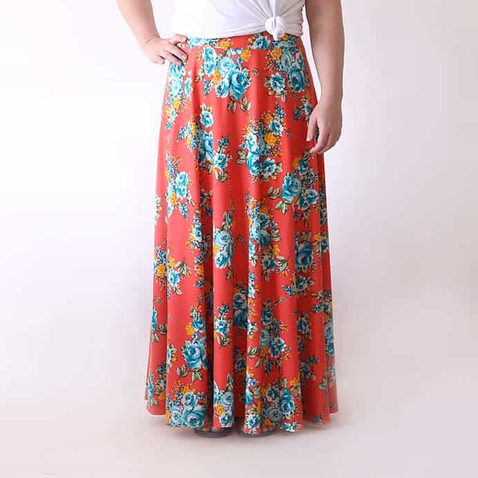 Half Circle Maxi Skirt Easy Sewing Tutorial. An easy to sew half circle maxi skirt designed for fullness and drape. Follow Autumn's easy to understand sewing tutorial. A perfect piece to add to your wardrobe for the warmer months. Please share and make Mondays fun, get our craft inspiration delivered to your inbox - CraftyLikeGranny.com #sewingtutorial #sewingpattern #sewing