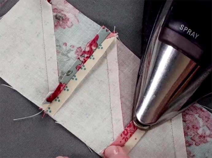 How To Press Quilt Seams. Lindsay, Dianne and Karen, all experts on quilting share their fabulous tips on how to press quilt seams. Pressing your seams correctly will affect your finished quilt. Learn about when to use different pressing techniques in their article on Craftsy. Please share. Sign up to our craft inspiration roundup newsletter and make Mondays more manageable. Fabulous Crafty ideas and projects delivered to your inbox - CraftyLikeGranny.com #quilting #sewing #sewintips