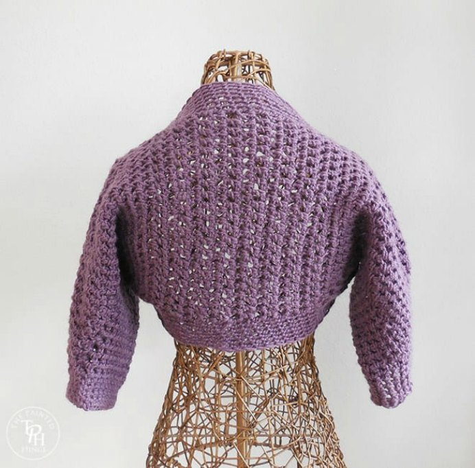 Half-Sleeve-Shrug-No-Seam-Free-Crochet-Pattern-9-min