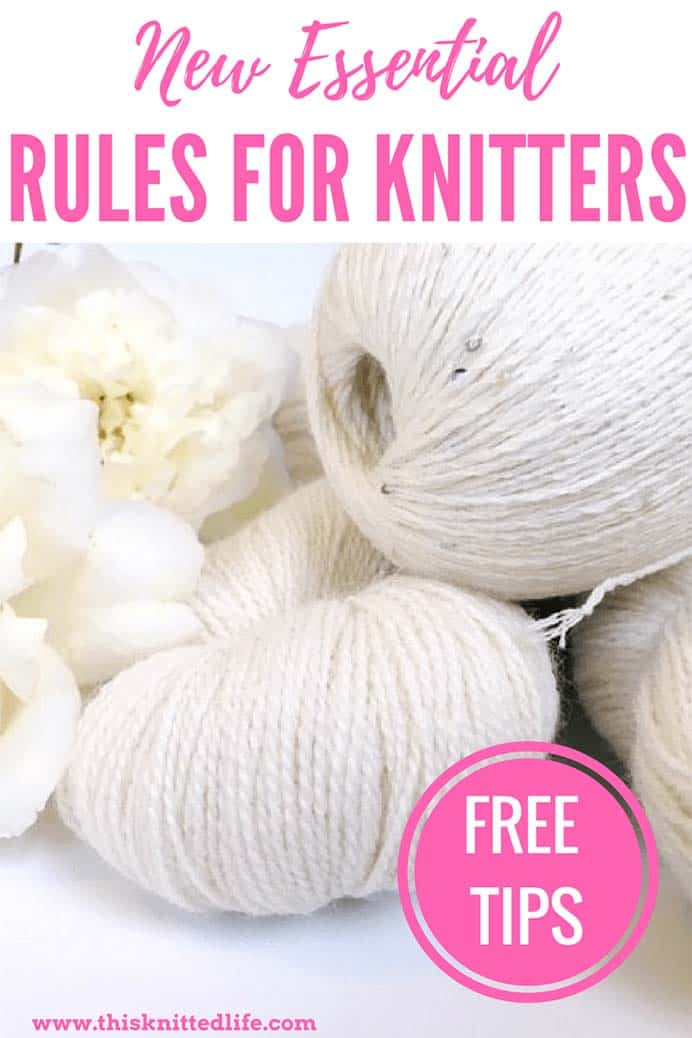 New Essential Rules For Knitters. As Andrea explains in direct contradiction of the title of her post, there are no rules to knitting. However Andrea's four new essential rules for knitters are certainly ones I agree with. How about you? Please share. Join now for creative craft inspiration. The best in craft delivered to your inbox every Monday - CraftyLikeGranny.com #knittingguru #knittingstitches #knitting