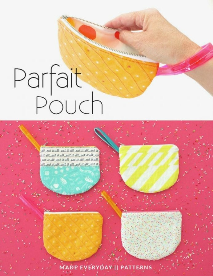 Cute pouch with a zipper. Dana at Made Everyday has a pattern that is great for beginners up to advanced sewers. Even if you've never sewn a zipper before! Detailed instructions for making various sizes. Please share and make Mondays fun, get our craft inspiration delivered to your inbox - CraftyLikeGranny.com #craftideas #sewing #sewingpattern