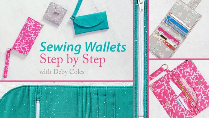 Learn to sew a gorgeous wallet with step by step instructions with Deby Coles on Craftsy. Please share. You will always look forward to Mondays, with our craft inspiration roundups -CraftyLikeGranny.com #sewing #sewingtutorial #sewingpattern