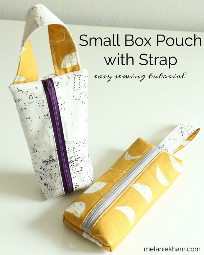 Handy Box Zippered Pouch Sewing Tutorial. Follow Melanie Ham's sewing tutorial to make this handy pouch. Melanie recommends using it to store your phone and is a great beginner's project. Please share and make Mondays fun, get our craft inspiration delivered to your inbox - CraftyLikeGranny.com #sewing #sewingtips #sewingpattern