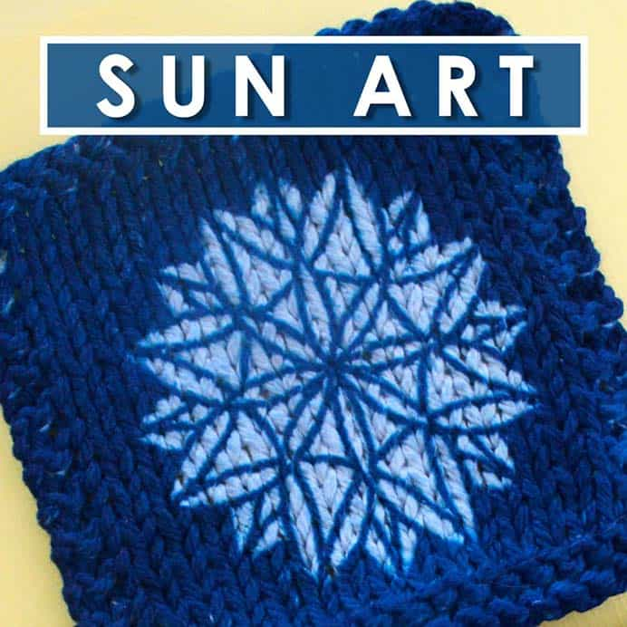 Have You Heard Of Yarn Dyeing Cyanotype Knit Swatches? This method of yarn art is new to me. What about you? Studio Knits steps you through this fun summertime craft project. Using the penetration of the sun and a special solution applied to the yarn, you can create beautiful designs. Follow Studio Knit's tutorial. Please share. Make Mondays more manageable and sign up for our craft inspiration newsletter. Delivered to your inbox - CraftyLikeGranny.com #knitting #knitting_guru #knit