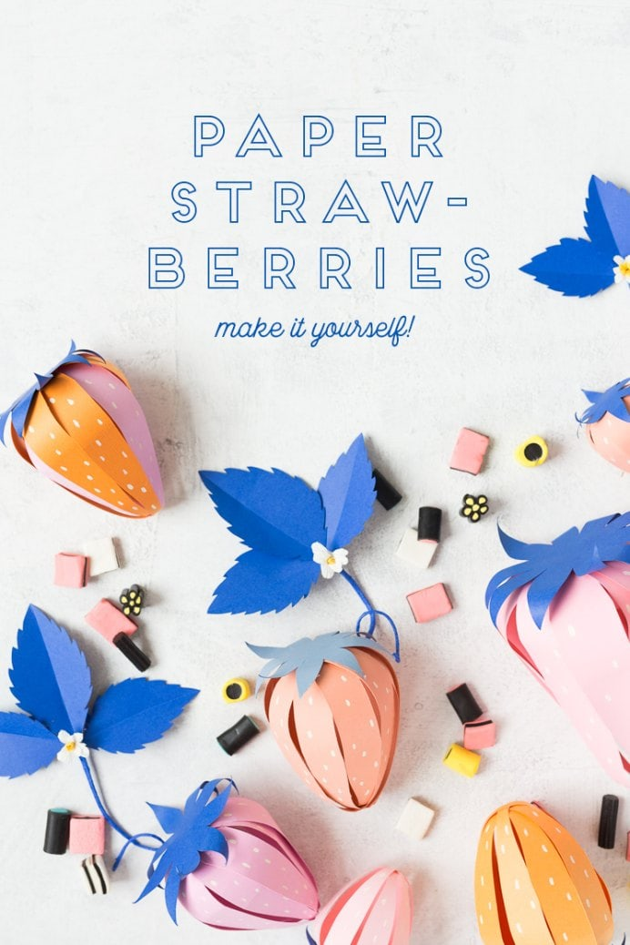 These handmade paper strawberries make a lovely gift. Fill with trinkets, a nail polish or mini lotion. More interesting than just paper wrapping! Please share. Look forward to Mondays with our craft inspiration newsletter. Crafty goodness delivered to your inbox - CraftyLikeGranny.com #papercraft #DIY #Craft