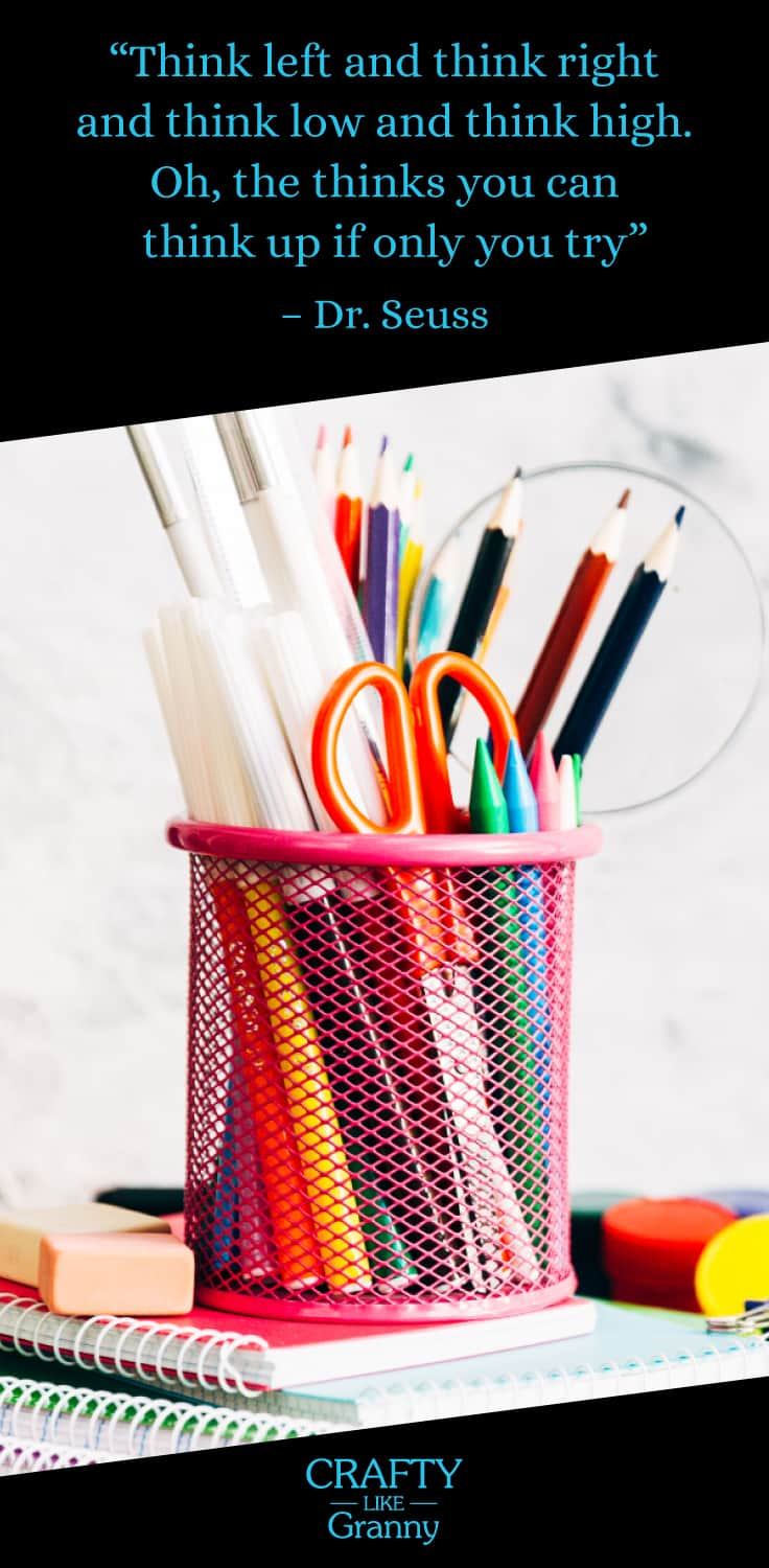 Back To School Crafts. This article features 10 fabulous crafting projects to make. Particularly beneficial for those of us who love to make and are looking for inspiration for kids craft. There's something to get your creative juices flowing. -- Repin this and click through to read about these 10 great craft projects. Make Mondays fun, get our craft inspiration delivered to your inbox - CraftyLikeGranny.com #backtoschoolcrafts #kidscraft #DIY #craft