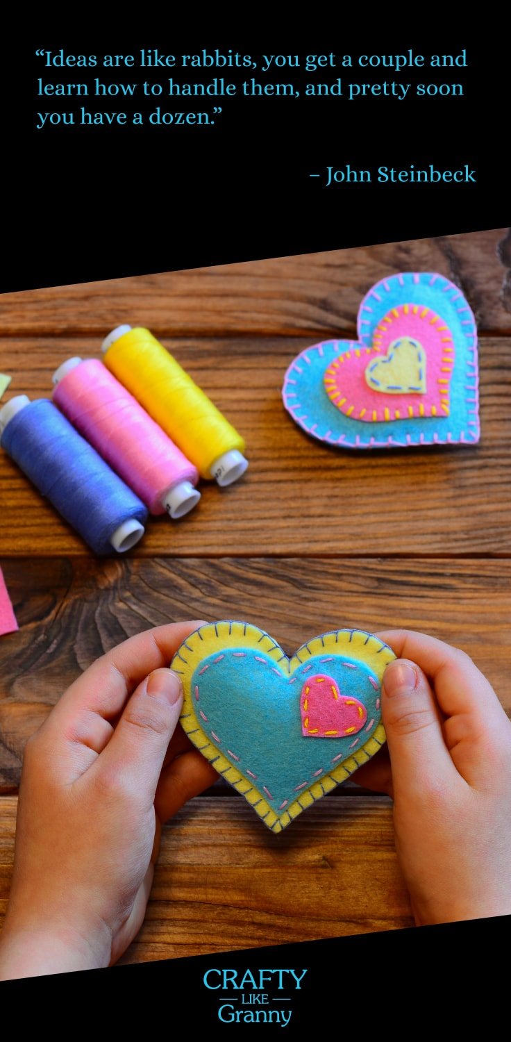 This article features 10 fabulous crafting projects to make. Particularly beneficial for those of us who love to make and are looking for inspiration. Whether you knit, crochet, sew, or embroider. There's something to get your creative juices flowing. -- Repin this and click through to read about these 10 great craft projects. Make Mondays fun, get our craft inspiration delivered to your inbox - CraftyLikeGranny.com #knitting #crocheting #sewing #embroidery