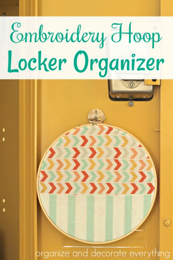 Now this organizer will be a welcome addition to your child's locker. Leanne from Organize Your Stuff Now shows you how to make it yourself. Please share. The best in craft delivered to your inbox every Monday - CraftyLikeGranny.com #backtoschoolcrafts #organizertips #craft #kidscraft