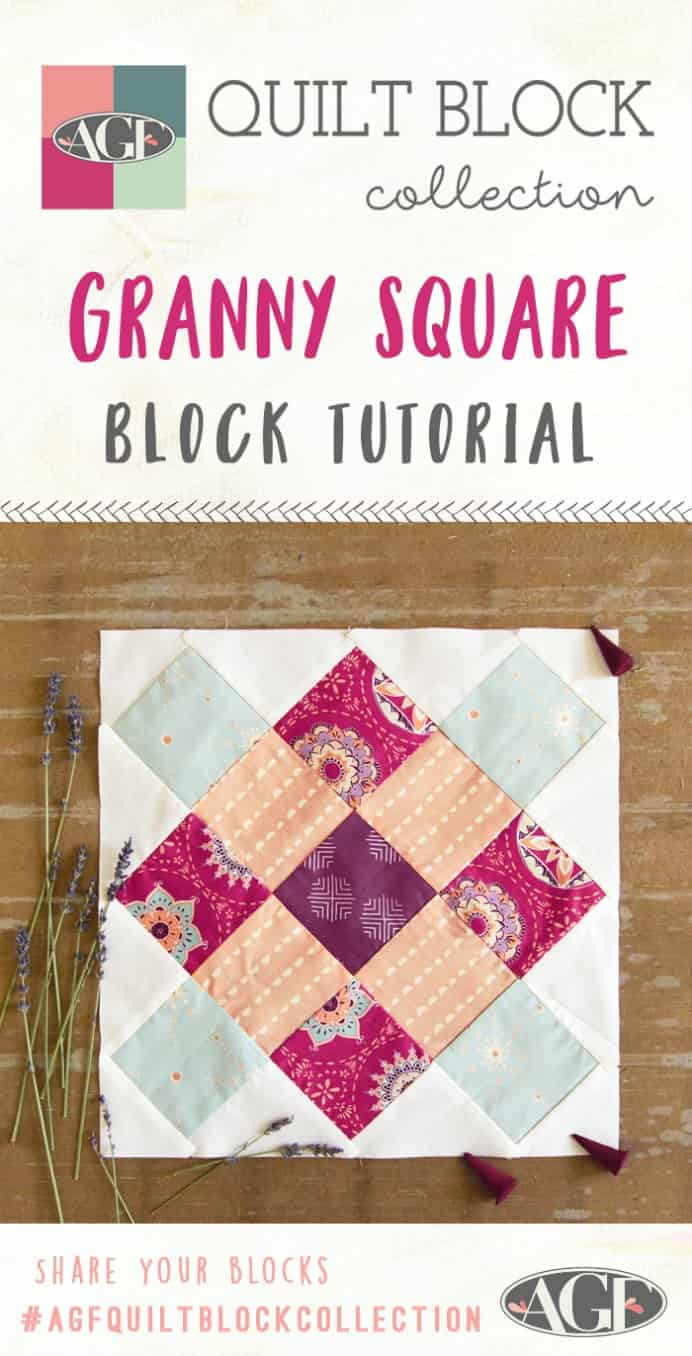 AGF have a collection for easy to create quilting blocks. This is the tutorial for their Granny Square block. Great for beginner quilters with easy to follow instructions. Please share. The best in craft delivered to your inbox every Monday - CraftyLikeGranny.com #quilting #quilt_block #sewing