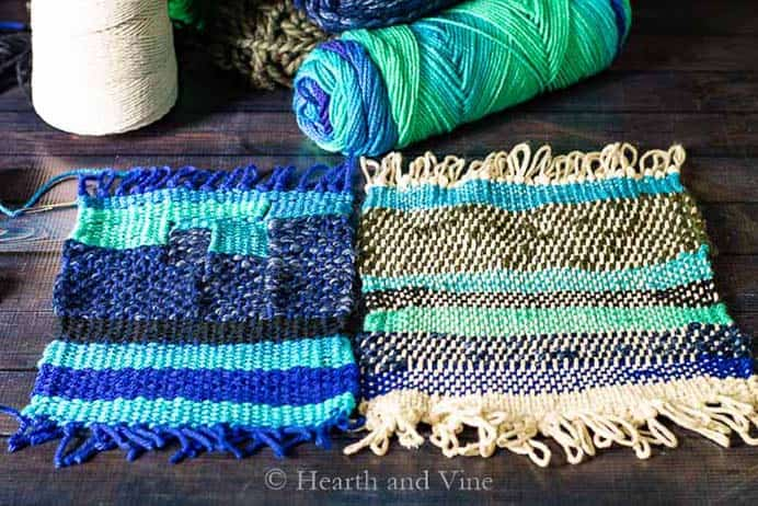 Patti from Hearth and Vine shares her experiences of trialing different weaving looms. There are some helpful hints included in her post. I look forward to creating some weaving of my own. Please share and make Mondays fun, get our craft inspiration delivered to your inbox - CraftyLikeGranny.com #weaving #loom #textileart