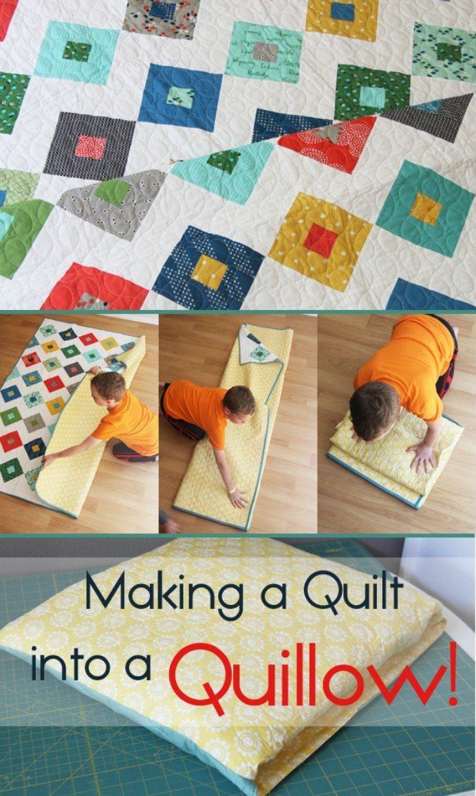 Making-a-Quilt-into-a-Quillow Cluck Cluck Sew. Please share. Make Mondays more manageable and sign up for our craft inspiration newsletter. Delivered to your inbox - CraftyLikeGranny.com