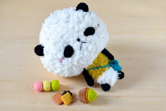 Pan-san Panda Amigurumi Free Pattern by Mei Li Lee. Please share. Join now for creative craft inspiration. The best in craft delivered to your inbox every Monday - CraftyLikeGranny.com