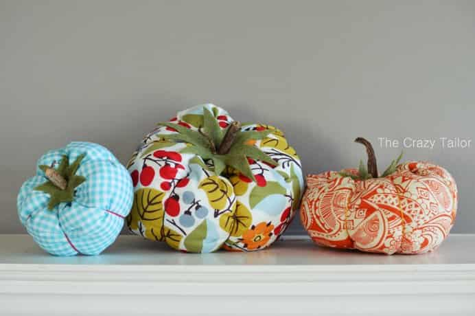 Sarah from The Crazy Tailor created these cute fabric pumpkins. Follow her helpful and easy sewing instructions this step by step tutorial. If you love to sew, these are a great idea for fall. #sewing Please share. Sign up to our craft inspiration roundup newsletter and make Mondays more manageable. Fabulous Crafty ideas and projects delivered to your inbox - CraftyLikeGranny.com #sew #sewing #craft #diy